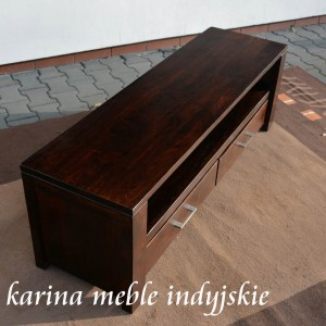 meble kolonialne -szafka rtv NAC-F10-120 dark brown