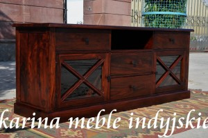 meble kolonialne -  szafka rtv - LD-468 brown