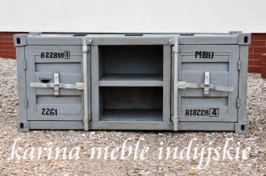"meble industrialne - loftowa metalowa szafka rtv ""CONTAINER"""