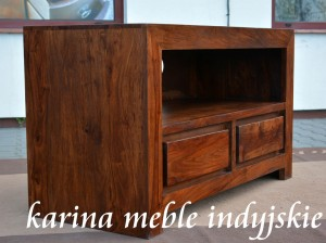 meble kolonialne -  szafka rtv NAC-WA-103 brown