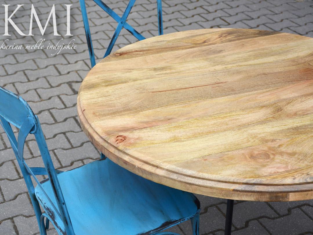 Meble Ogrodowe Na Metalowych Nogach : okrągły stół na metalowych nogach meble kolonialne, indyjskie