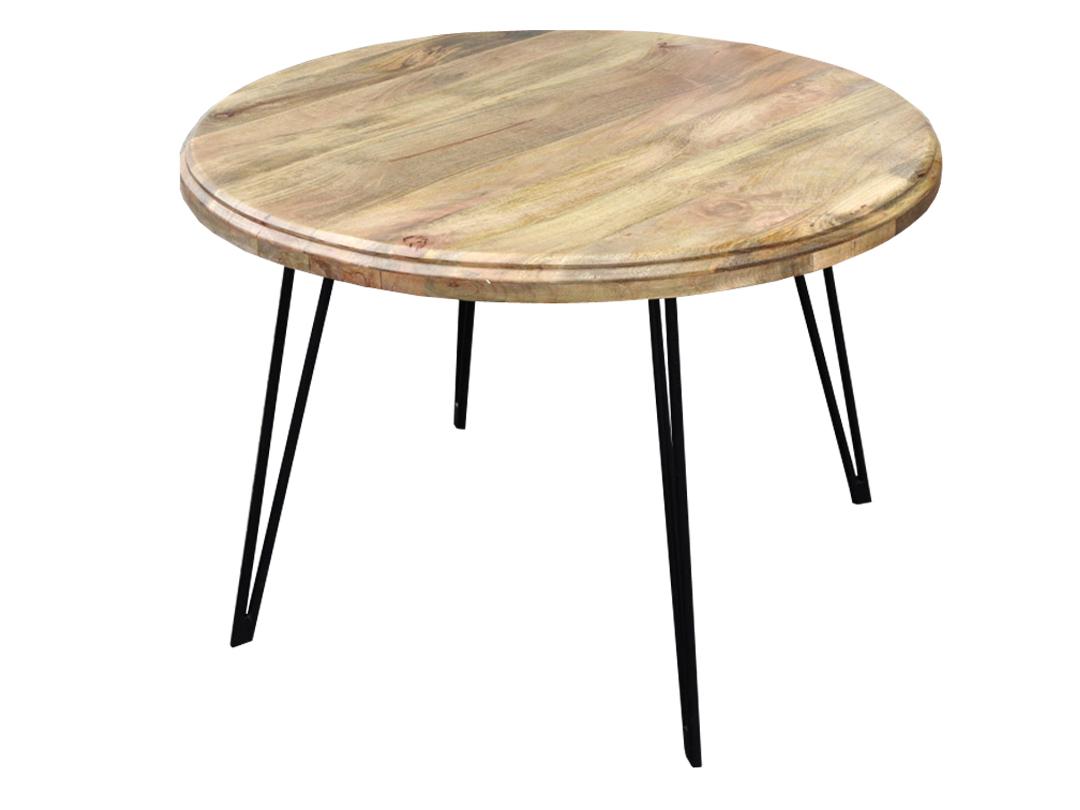 okrągły stół na metalowych nogach meble kolonialne, indyjskie