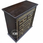 meble orientalne | Indyjska komoda MA49 dark brown