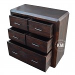 meble do salonu | kolonialna drewniana komoda LD-444 dark brown