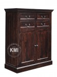 meble palisander | kolonialna komoda LD-65 darkbrown
