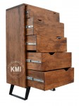 meble industrialne | komoda Organic Loft light walnut