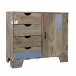 meble w stylu loft industrial | mała komoda Raw Wood EAC43