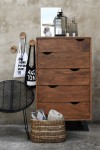 sypialnia industrialna | komoda Organic Loft light walnut