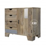 meble industrialne | mała komoda Raw Wood EAC43