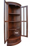 meble palisander | narożna witryna Classic LD-722 brown