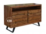 meble industrialne | komoda Nature Line akacja light walnut