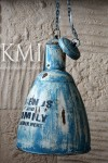meble indyjskie | loftowa lampa industrialna M-3696 blue