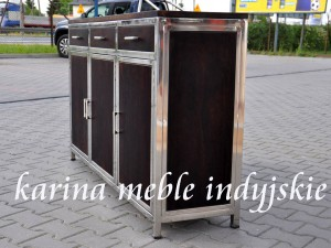 meble kolonialne - komoda LD-542 dark brown