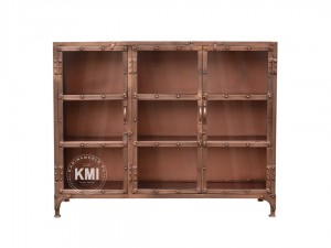 meble industrialne metalowa witryna komoda loft Copper