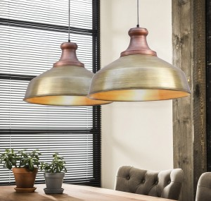 metalowa lampa loftowa copper brass
