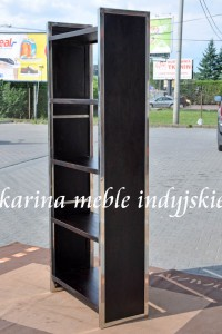 meble kolonialne - biblioteczka LD-547 dark brown