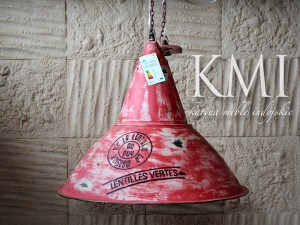 "industrialna lampa XL ""Loft Colors"" M-3436 czerwona"