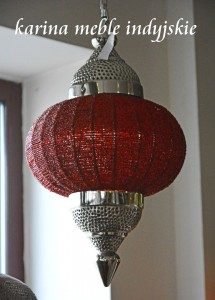 "LAMPA ""MARRAKESH"" LDL-4069 RED"