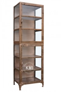 meble industrialne metalowa witryna loft Copper