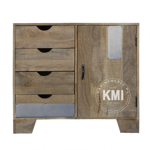 meble loftowe | mała komoda Raw Wood EAC43