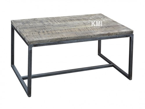meble industrialne | stolik loftowy 60x90 drewno mango plus metal MM110