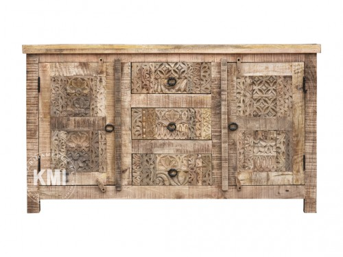 meble loftowe | indyjska komoda Yasmin 130 cm antique wood