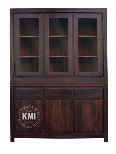 meble kolonialne | kredens Metro NAC-F09-106-3D dark brown