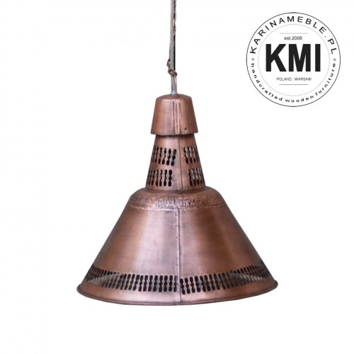 metalowa lampa industrialna copper