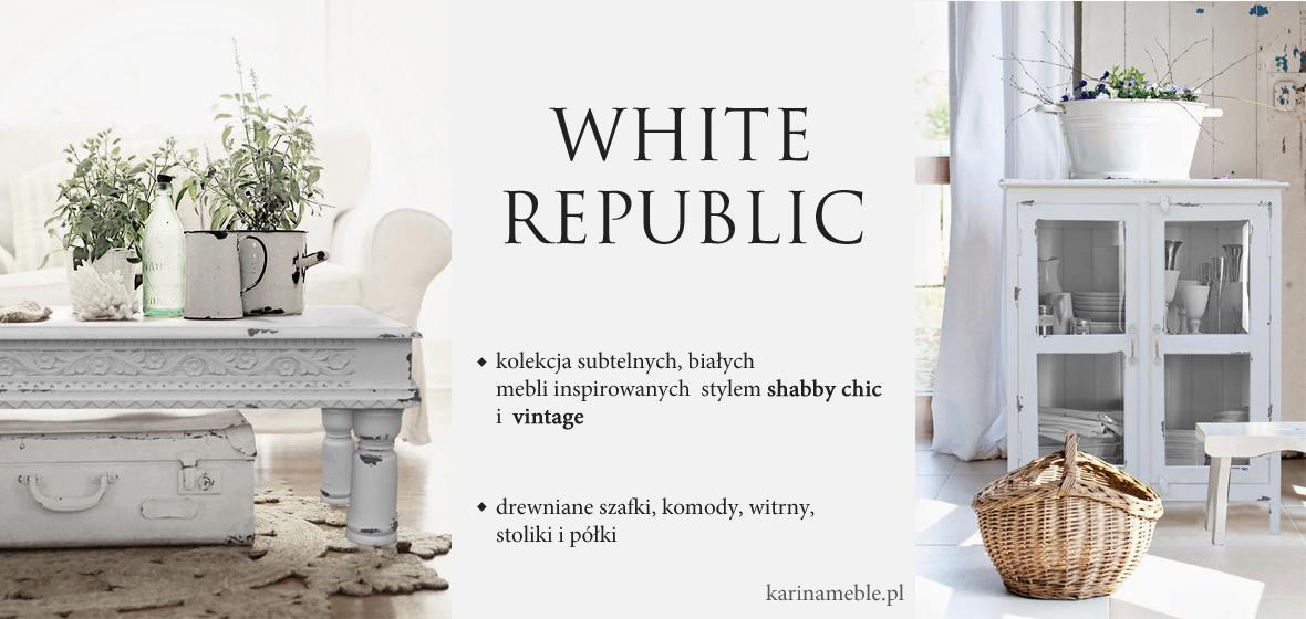 Kolekcja White Republic Biale Meble Drewniane W Stylu Shabby Chic