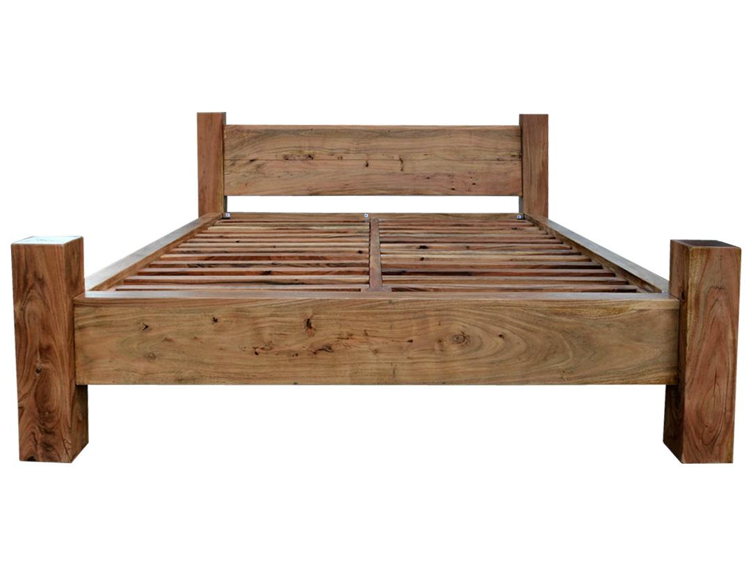 łóżko Z Litego Drewna Ocean Akacja 160 Cm Natural