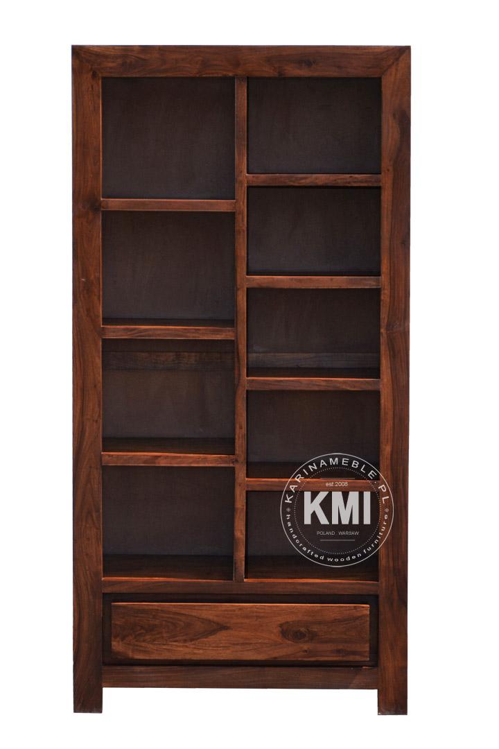 biblioteczka rega� meble kolonialne drewniane karina