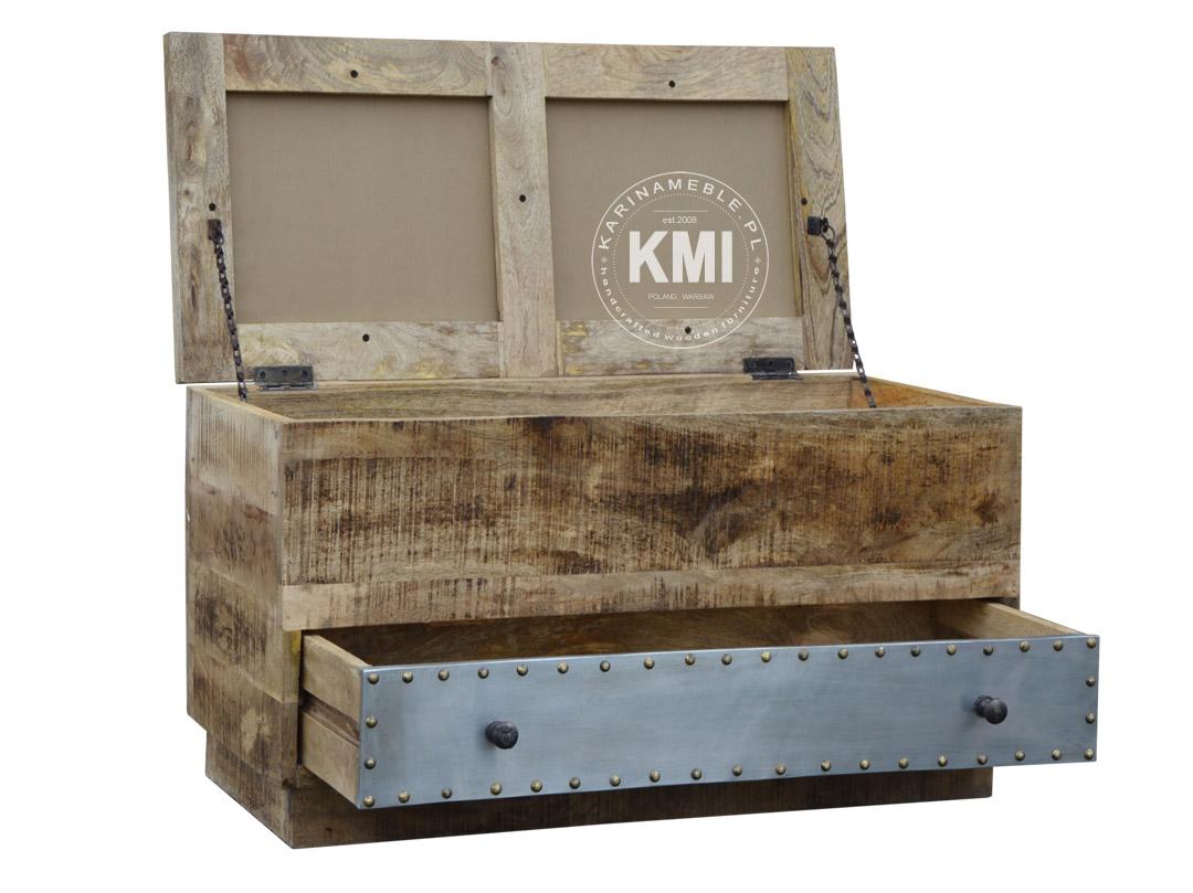 f38cc136 skrzynia kufer podwójny Lost in Time meble loftowe - karinameble.pl